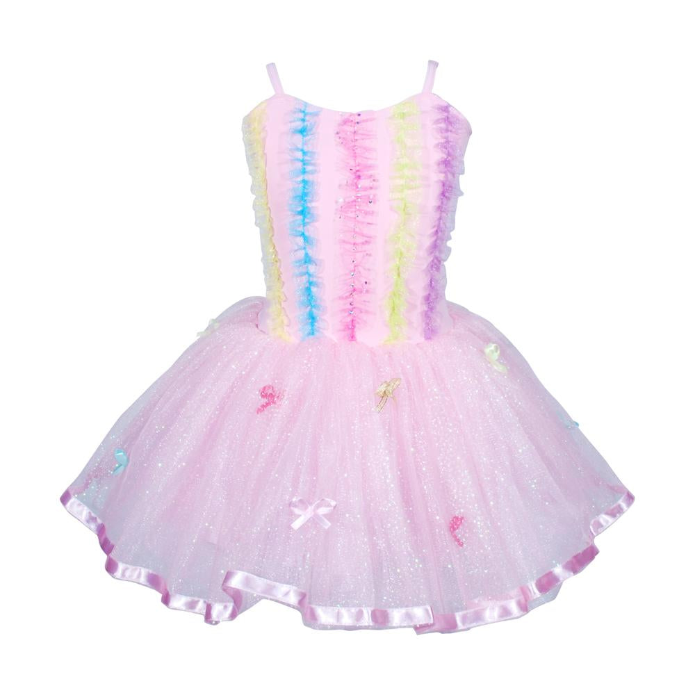 Ruffles&bows dress size3/4-ppink - Pink Poppy