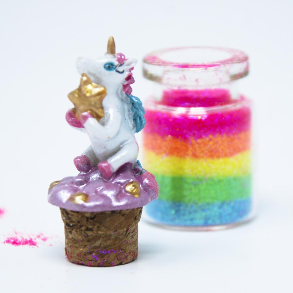 Unicorn Rainbow Glitter - Pink Poppy
