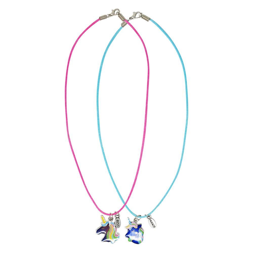 Cotton Candy Unicorn Mood Necklace Set - Pink Poppy