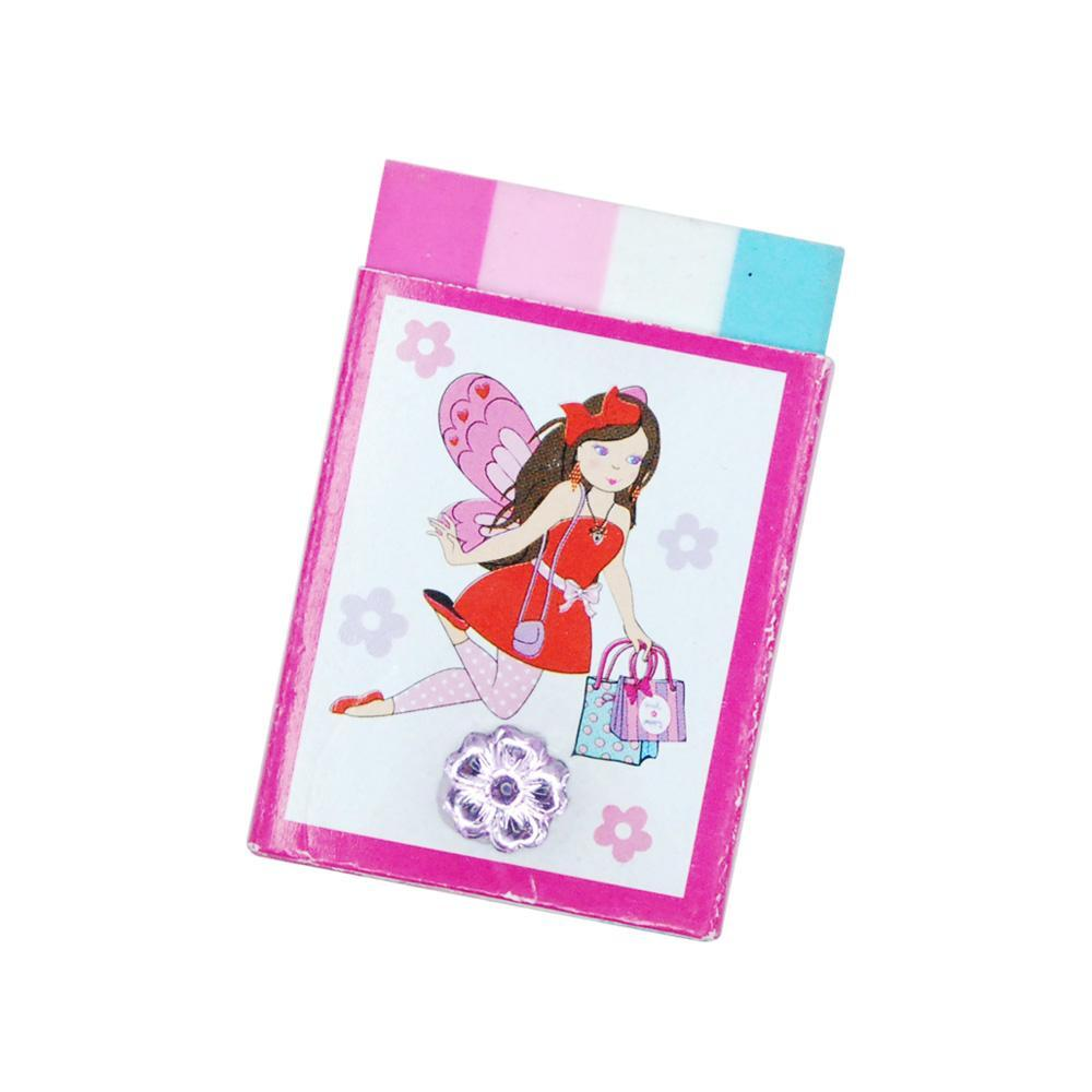 Fashion Fairy Eraser With Gem - Pink Poppy