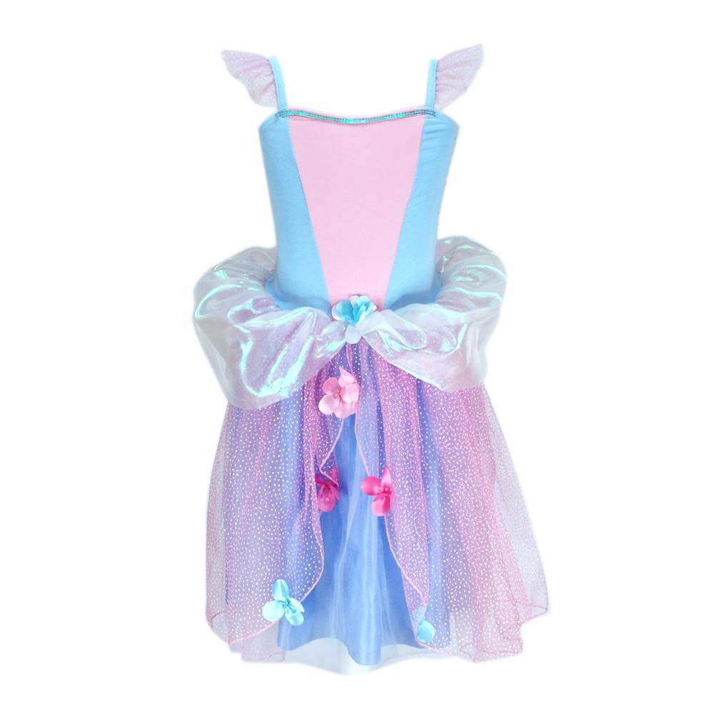 Flower fairy dress size 3/4-blue - Pink Poppy