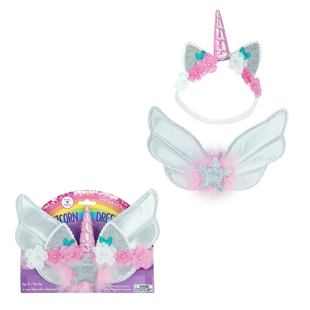 Magical Unicorn Wing &Headband Set-White - Pink Poppy