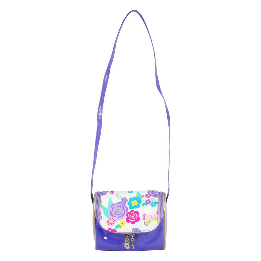 Secret garden cross body bag-lilac - Pink Poppy