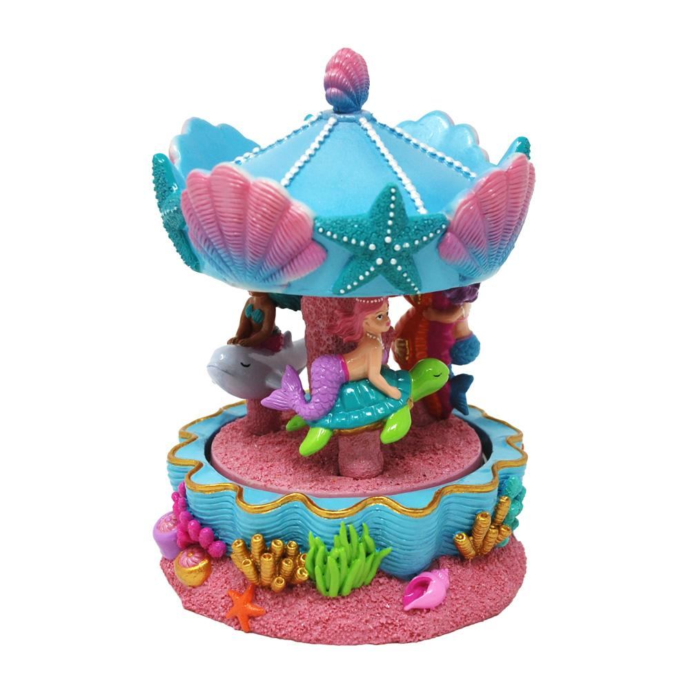 Mermaid Dreaming Musical Carousel - Pink Poppy