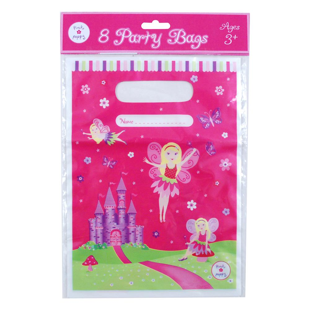 Fairy/Princess Party Bag-8Pc/Pack - Pink Poppy