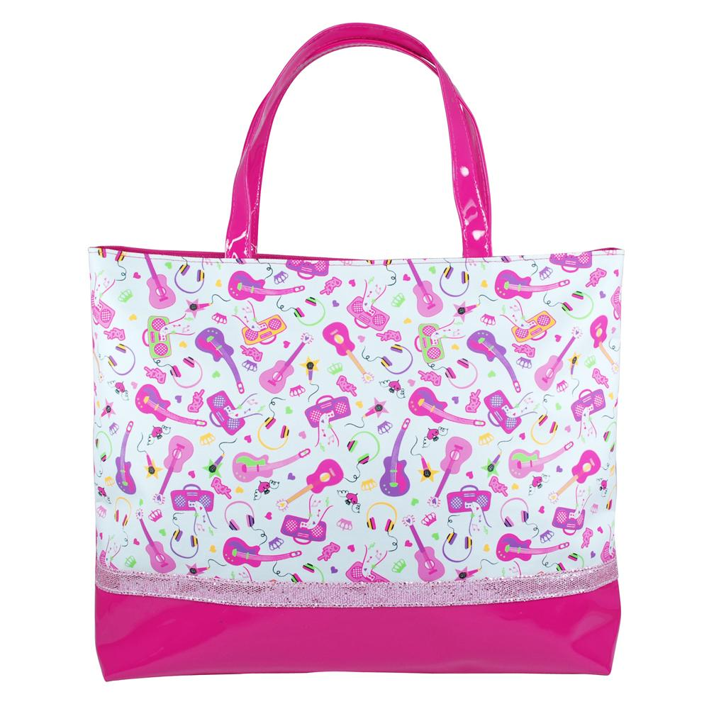 Rock princess tote bag-white - Pink Poppy
