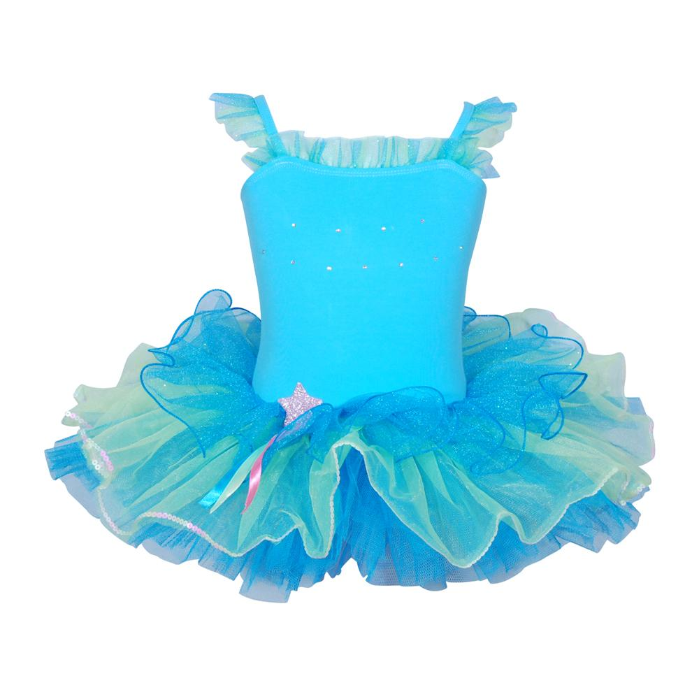 Dancing Star tutu size 3/4-Blue - Pink Poppy
