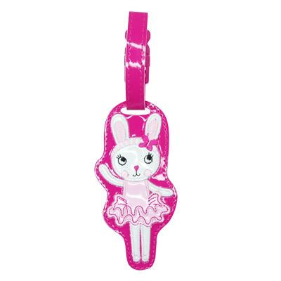 Cute Little Pets Bag Tag - Pink Poppy