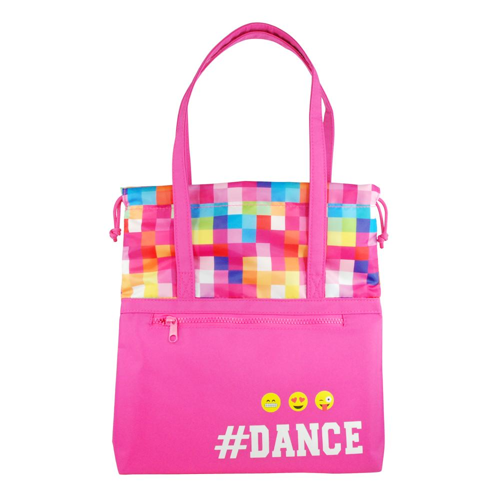 Pixel Dance Tote Bag-Hot Pink - Pink Poppy
