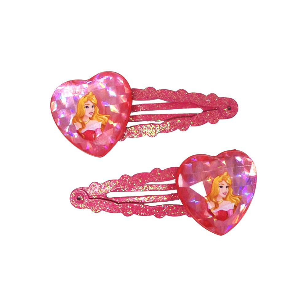 Aurora Heart Gem Snapclips - Pink Poppy