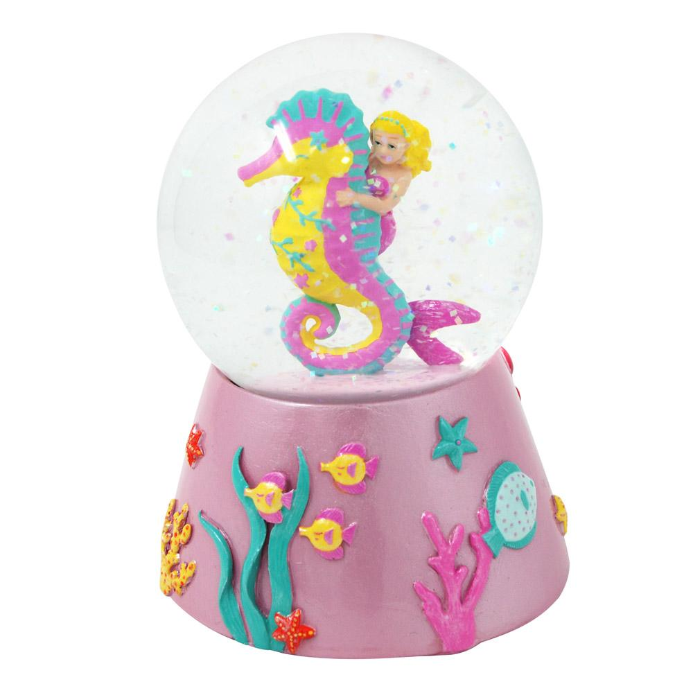 Wish upon a starfish musical snow globe - Pink Poppy