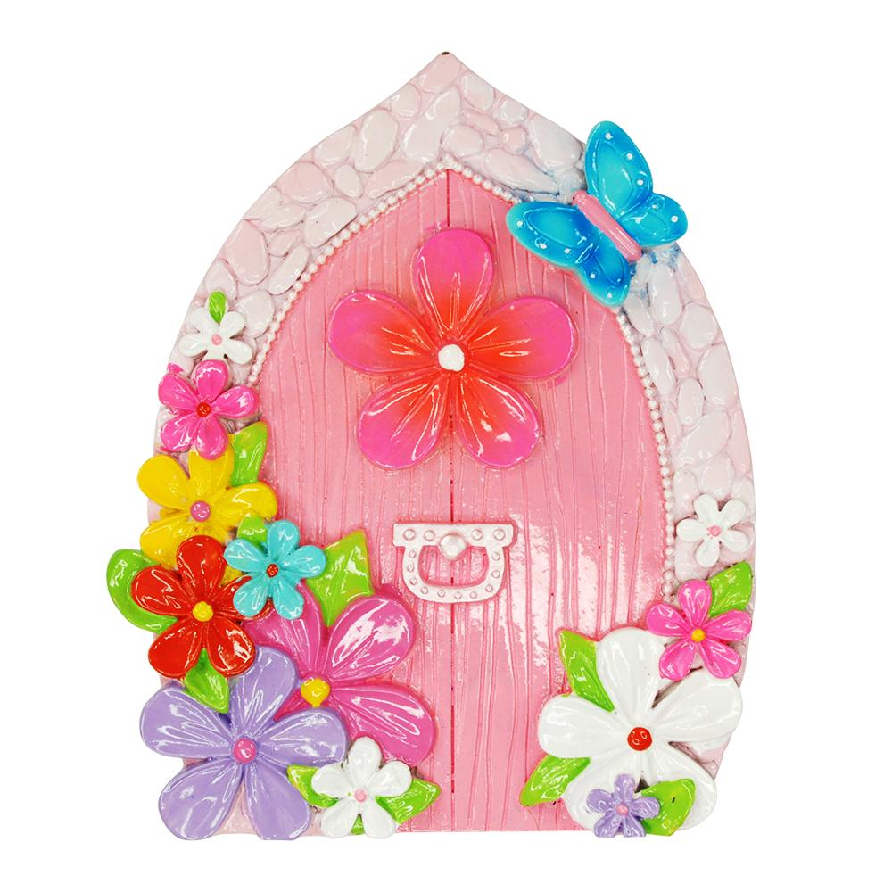 Floral Fairy Door - Pink Poppy