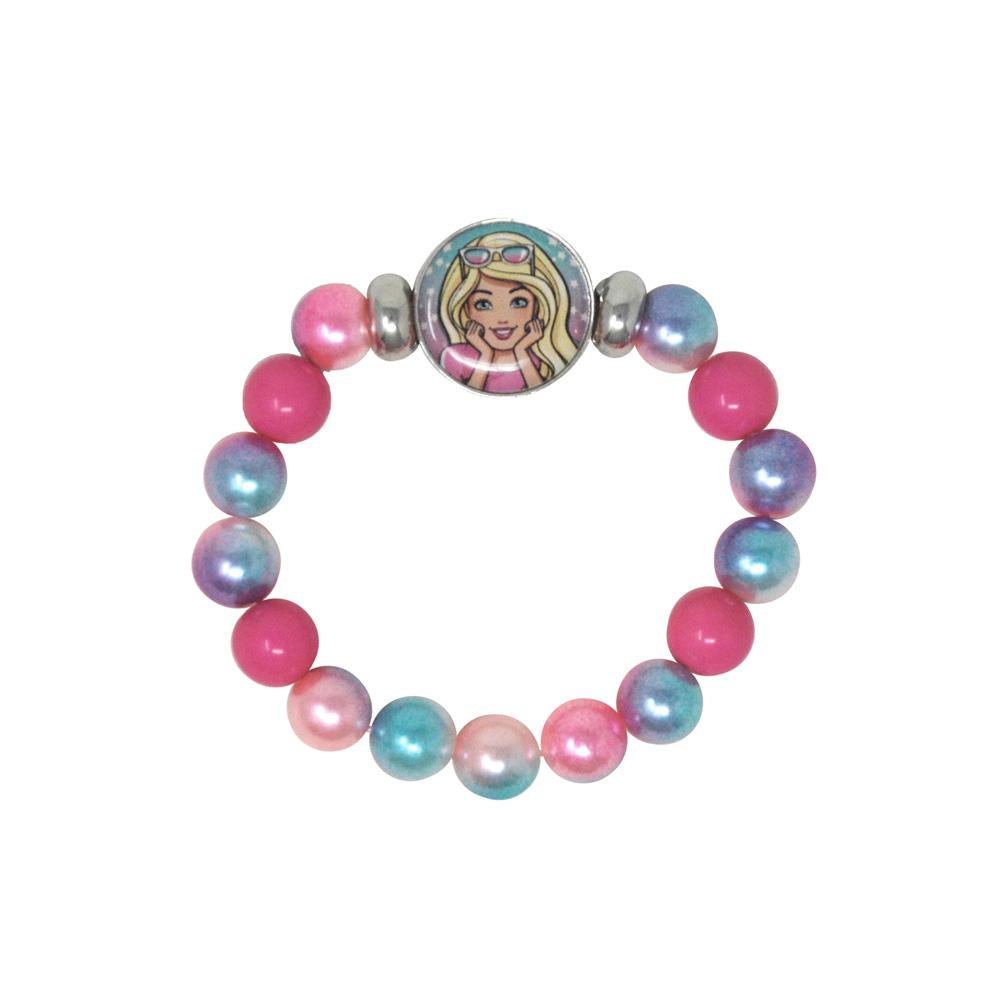 Barbie Button Bracelet - Pink Poppy