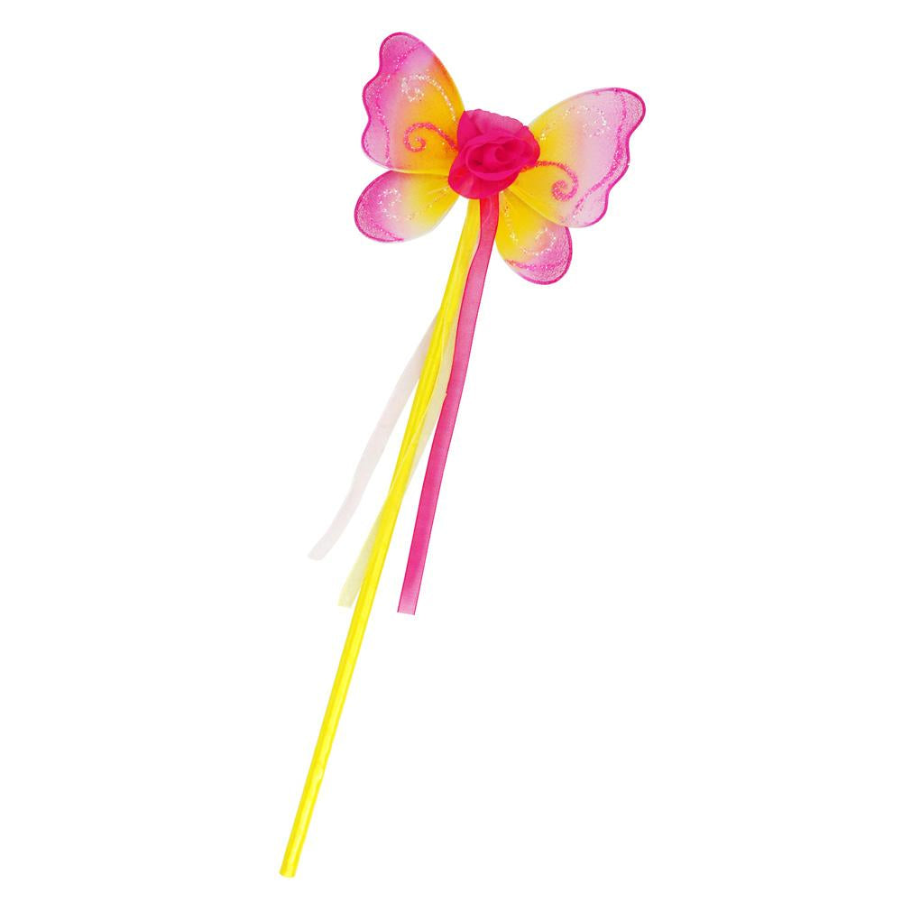Enchanted Blossom Wand-Yellow - Pink Poppy