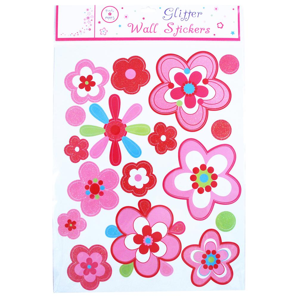 Belle Fleur Wall Decals - Pink Poppy