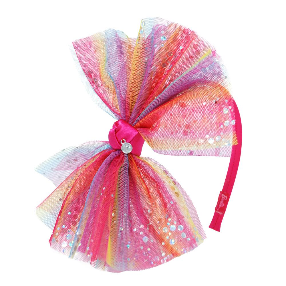 Barbie Rainbow Bow Headband - Pink Poppy