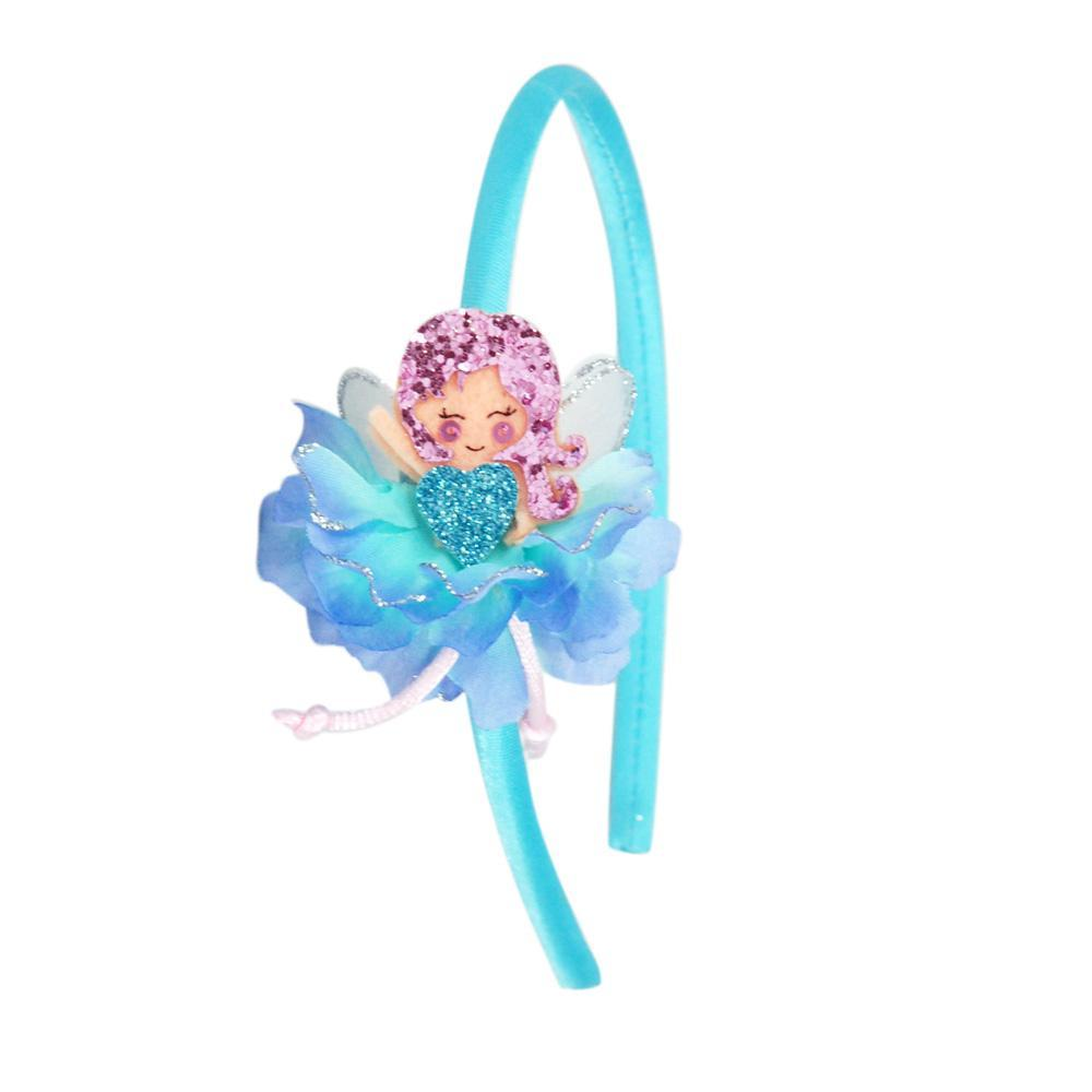 Glitter Flower Fairy Headband - Pink Poppy