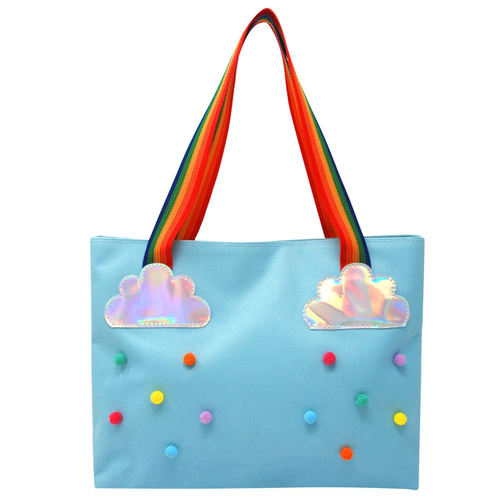 Rainbow magic tote bag-blue - Pink Poppy