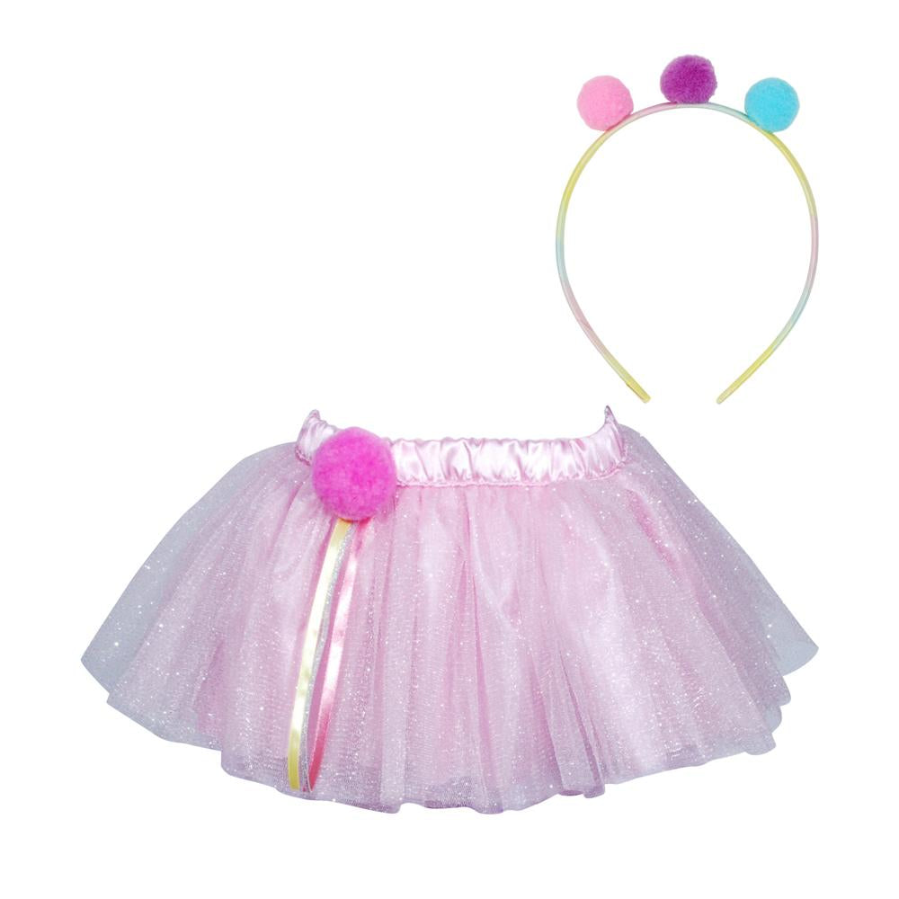Dreamer Dancer Tutu & Headband Set-Pp - Pink Poppy