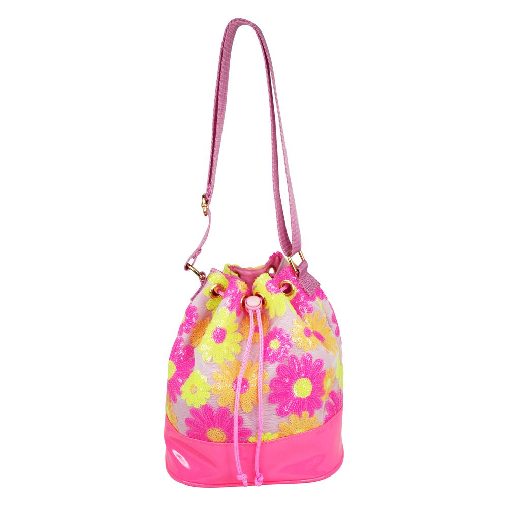 Sequin Daisy Cross Body Satchel-Lilac - Pink Poppy