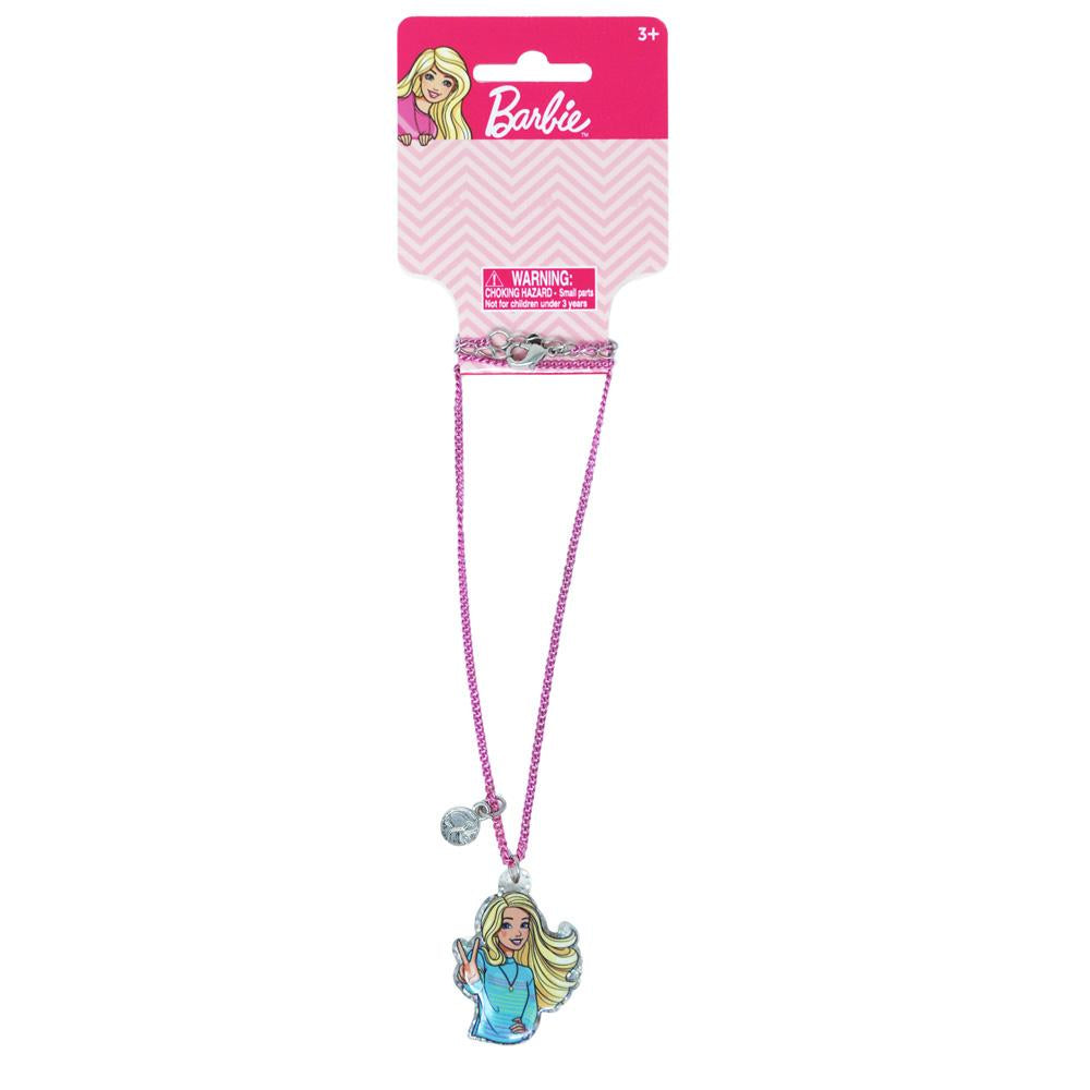 Barbie Pendant Necklace - Pink Poppy