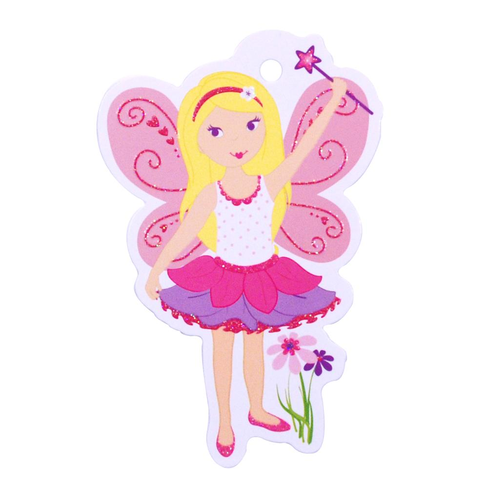 Magical Fairy Gift Tag - Pink Poppy