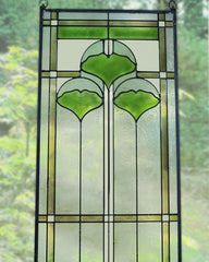 Ginko Stained Glass Panel - Detail