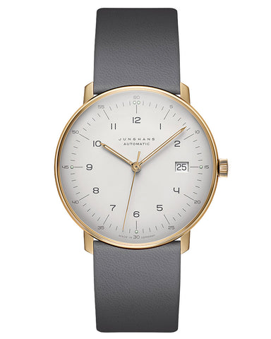 Junghans Automatic 27 Watch 2806.02 White-Gold/Grey Leather