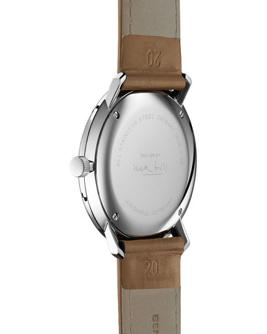 Junghans Quartz 41 Watch 4562.04 White/Tan Leather