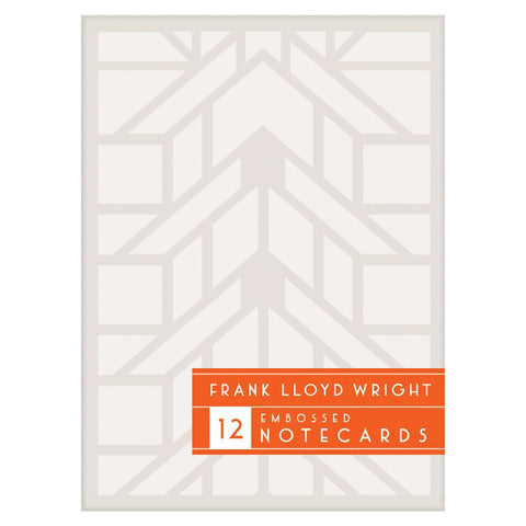 Frank Lloyd Wright Embossed Designs Notecard Set Front