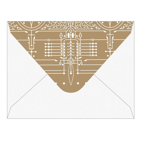 Frank Lloyd Wright House Beautiful Greeting Envelope