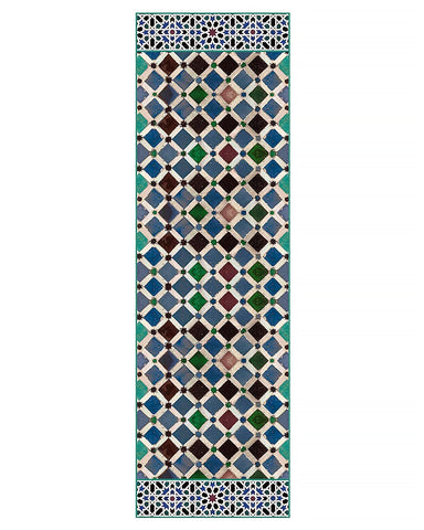 Alhambra Tiles Silk Chiffon Scarf - Long