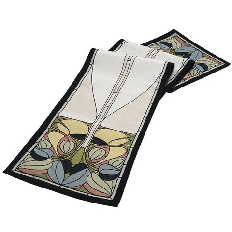 Arts & Crafts Art Nouveau Spring Floral Tapestry Table Runner