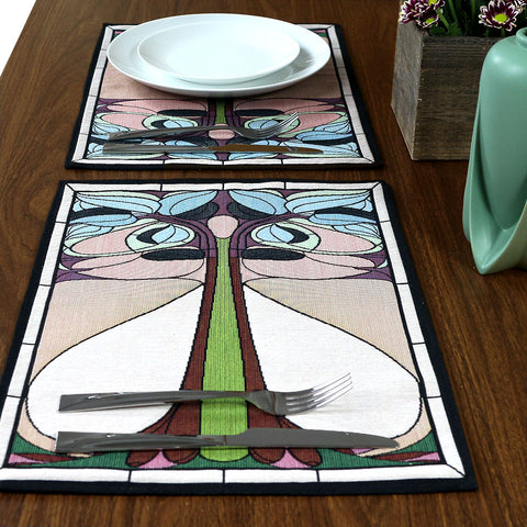 Arts & Crafts Art Nouveau Summer Floral Tapestry Placemat