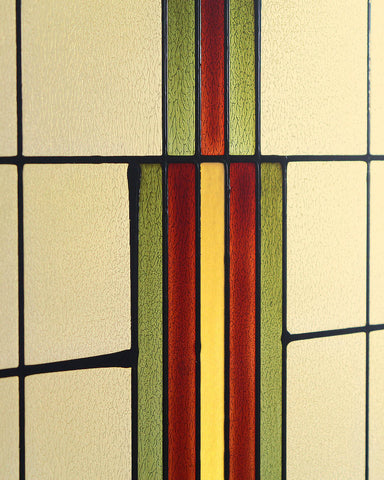 Arts and Crafts Prairie Window Art Glass Panel