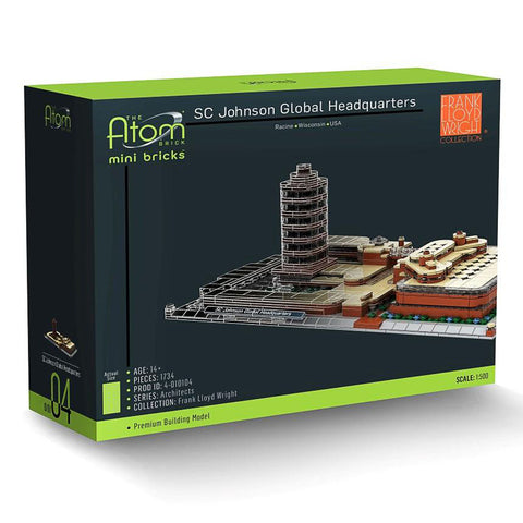 Frank Lloyd Wright SC Johnson Global Headquarters Architecture Building Brick Set 3