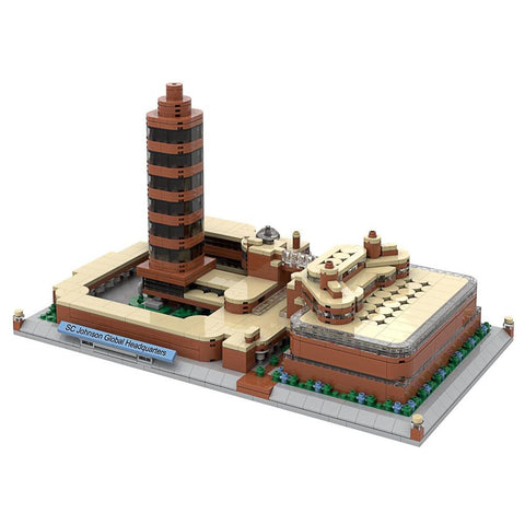 Frank Lloyd Wright SC Johnson Global Headquarters Architecture Building Brick Set 1