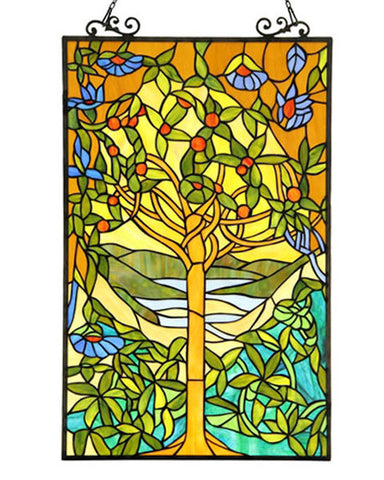 Eden Stained Glass Panel