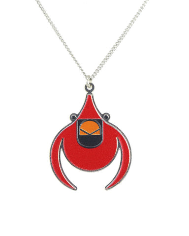 Charley Harper Flying Cardinal Pendant Necklace