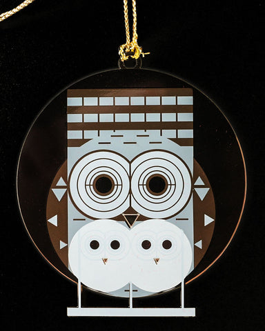 Charley Harper Brass Family Owlbum Ornament Adornment