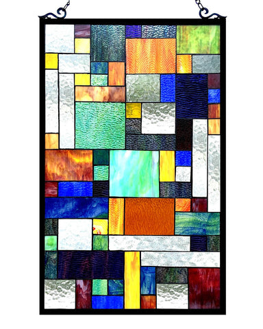 Avant Art Deco Glass Window Panel