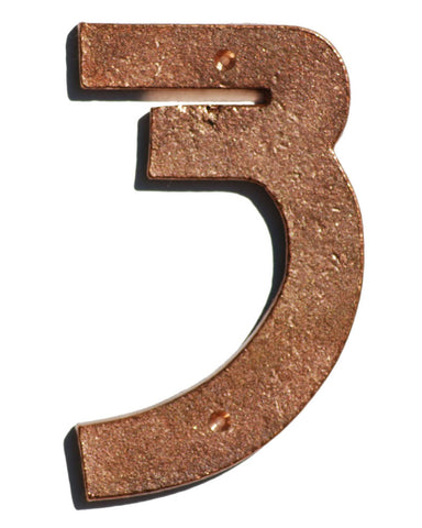 Prairie Style Solid Copper House Numbers