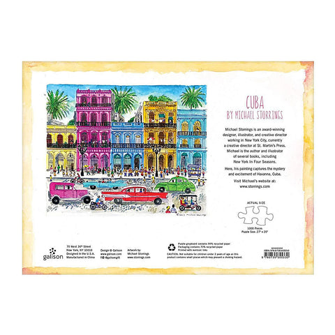 Cuba by Michael Storrings 1000 Piece Jigsaw Puzzle