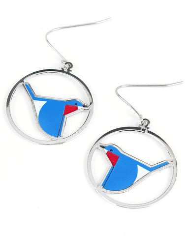 Charley Harper Bluebird Earrings