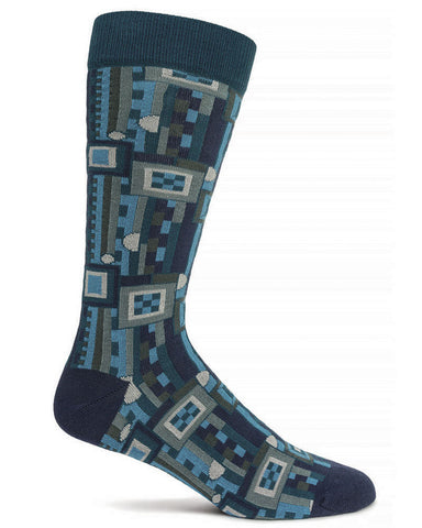 Frank Lloyd Wright Saguaro Men's Socks - Navy