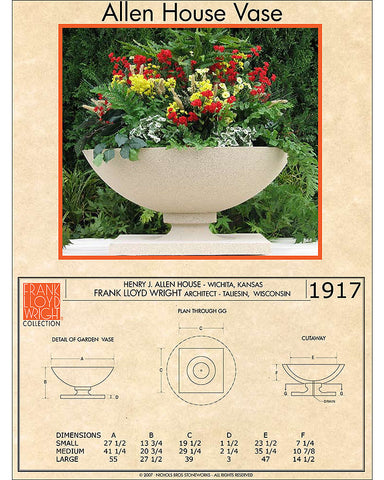 Frank Lloyd Wright Medium Allen House Planter Vase