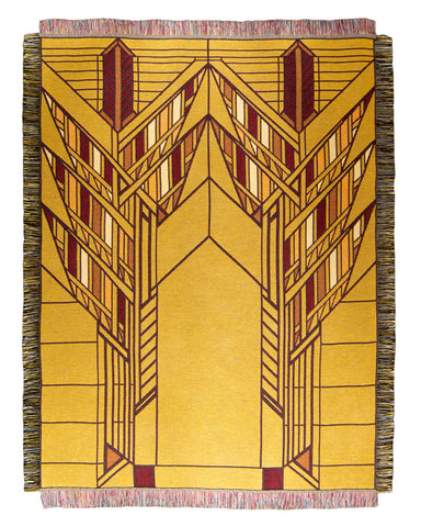 Frank Lloyd Wright Dana Sumac Tapestry Throw