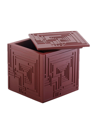 Frank Lloyd Wright Ennis House Textile Block Trinket Box Open