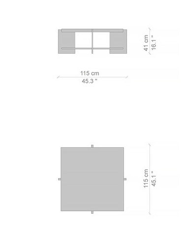 Frank Lloyd Wright Lewis Coffee Table Dimensions