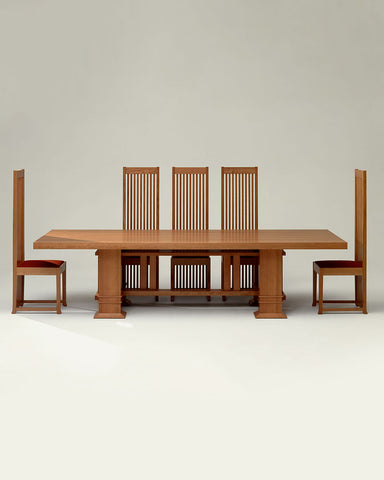 Frank Lloyd Wright Robie 1 Chair with Dining Table
